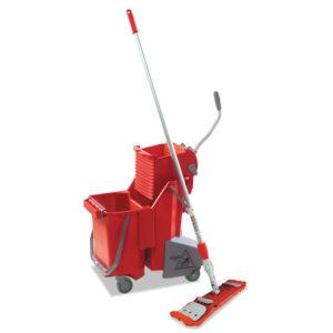 Unger® Side-Press Restroom Mop Bucket FloorPack