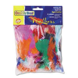 Creativity Street® Chenille Kraft® Bright Hues Feather Assortment