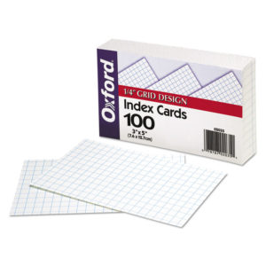 Oxford™ Grid Index Cards