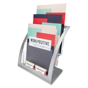 deflecto® Three-Tier Contemporary Literature Holder