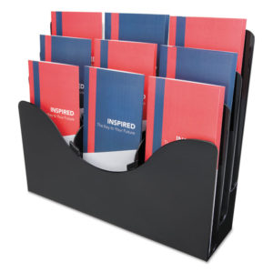 deflecto® Three-Tier Document Organizer with Dividers