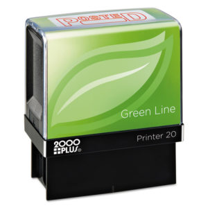 COSCO 2000PLUS® Green Line Self-Inking Message Stamp