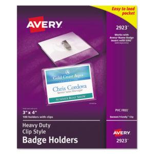 Avery® Heavy-Duty Badge Holders
