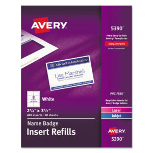 Avery® Name Badge Insert Refills