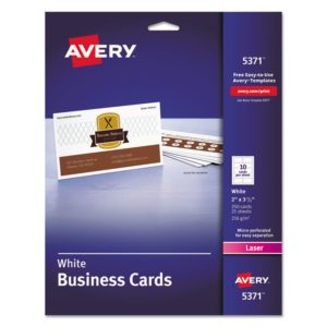 Avery® Standard Printable Microperforated Business Cards