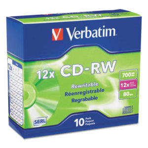 Verbatim® CD-RW High-Speed Rewritable Disc