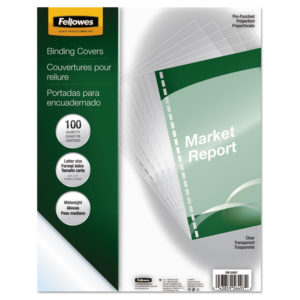 Fellowes® Crystals™ Transparent Presentation Covers for Binding Systems