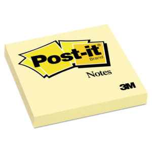 Post-it® Notes Original Pads in Canary Yellow