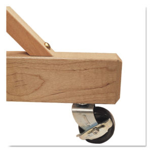 Quartet® Casters for Double-Sided Dry Erase Easel with Oak Stand