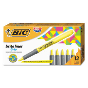 BIC® Brite Liner® Grip Pocket Highlighter
