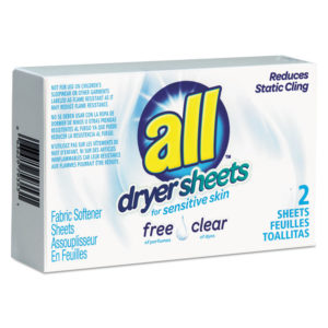 All® Free Clear Vend Pack Dryer Sheets