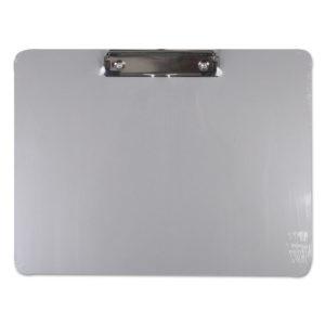 Universal® Plastic Brushed Aluminum Clipboard