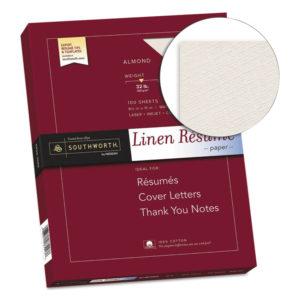 Southworth® 100% Cotton Premium Weight Linen Resume Paper