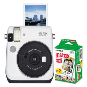 Fujifilm Instax® Mini 70 White Camera Bundle