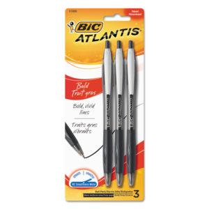 BIC® Atlantis® Bold Retractable Ballpoint Pen