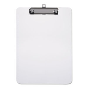 Universal® Plastic Clipboard with Low Profile Clip