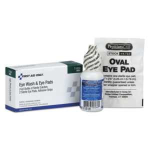 First Aid Only™ Eyewash Set with Adhesive Strips