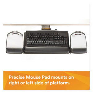 3M™ Knob Adjust Keyboard Tray with Highly Adjustable Platform