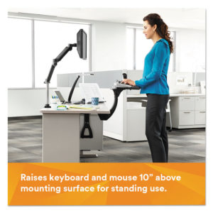3M™ Sit/Stand Easy-Adjust Standard Keyboard