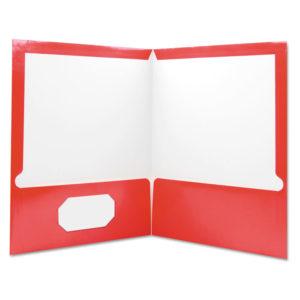 Universal® Laminated Two-Pocket Folder