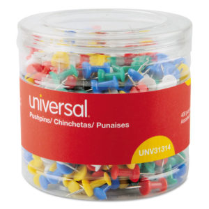 Universal® Colored Push Pins