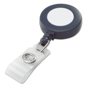 GBC® BadgeMates™ Plastic Retractable Name Badge Reel with Snap Closure