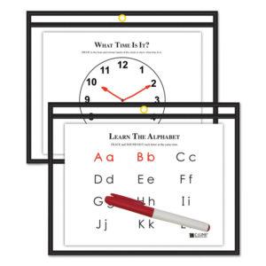 C-Line® Reusable Dry Erase Pockets
