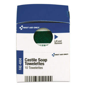 First Aid Only™ Castile Soap Towelettes