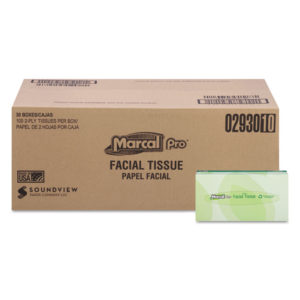 Marcal PRO™ 100% Recycled Convenience Pack Facial Tissue