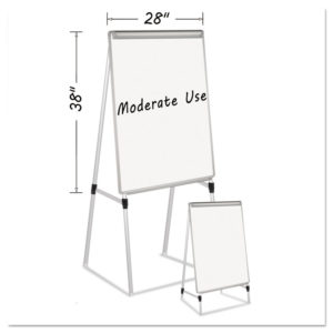 MasterVision® Silver Easy Clean Dry Erase Quad-Pod Presentation Easel