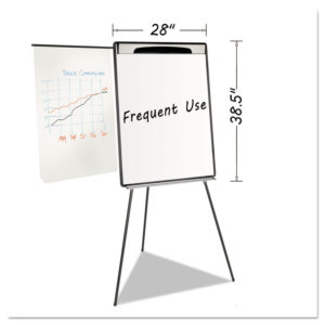 MasterVision® Magnetic Gold Ultra Dry Erase Tripod Presentation Easel with Extension Arms