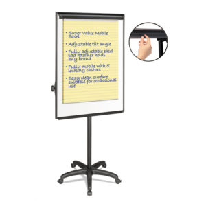 MasterVision® Silver Easy Clean Dry Erase Mobile Presentation Easel