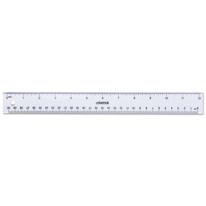 Universal® Clear Plastic Ruler