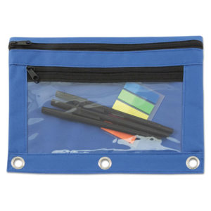 Advantus Binder Pencil Pouch with Two Clear Pockets
