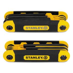 Stanley® Folding Metric and SAE Hex Keys