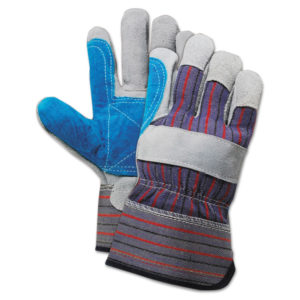 Boardwalk® Cow Split Leather Double Palm Gloves