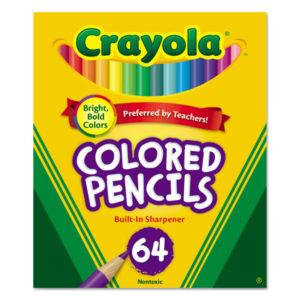 Crayola® Short Colored Pencils Hinged Top Box