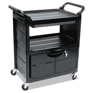 Rubbermaid® Commercial Utility Cart with Locking Doors