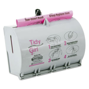 Tidy Girl™ Plastic Feminine Hygiene Disposal Bag Dispenser
