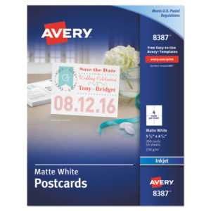 Avery® Printable Postcards