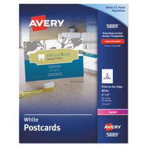 Avery® Printable Postcards