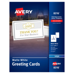 Avery® Greeting Cards with Matching Envelopes