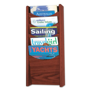 Safco® Solid Wood Wall-Mount Literature Display Rack