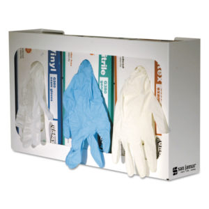 San Jamar® White Enamel Disposable Glove Dispenser