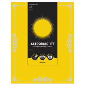 Astrobrights® Foil Enhanced Certificates