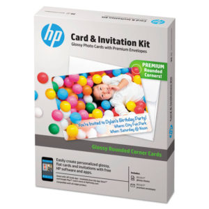 HP Card & Invitation Kit for Glossy Rounded Corner Flat Cards