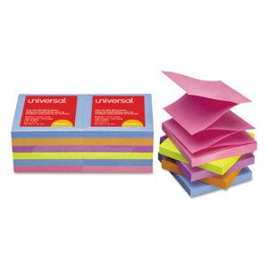 Universal® Fan-Folded Self-Stick Pop-Up Note Pads