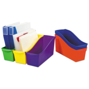 Storex Interlocking Book Bins