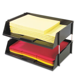 deflecto® Industrial Tray Side-Load Stacking Tray Set