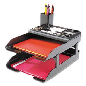 deflecto® Corporate Desk Tray Set